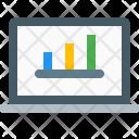 Laptop Graph Business Icon