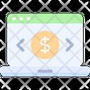 Monitoring Transactions Laptop Bank Icon