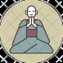 Monk sitting gassho Icon