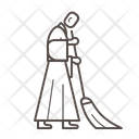 Monk sweeping Icon