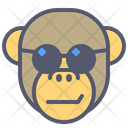 Monkey Sunglasses Icon