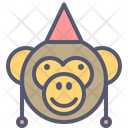Monkey Party Icon