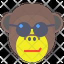 Monkey Sunglasses Icon