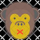 Monkey Silent Icon