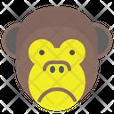 Monkey Sad Icon