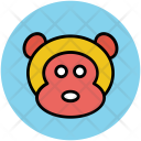 Monkey Face Cartoon Icon