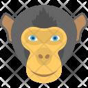 Black Monkey Face Icon
