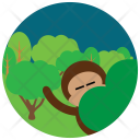 Monkey Jungle Forest Icon
