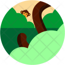 Monkey Forest Jungle Icon