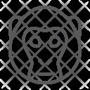Monkey Simian Face Icon