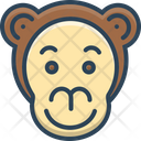 Monkey Face Animal Icon
