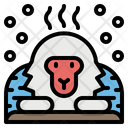 Monkey Snow Animal Icon