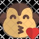 Monkey Blowing A Kiss Animal Wildlife Icon
