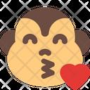 Monkey Blowing A Kiss Icon