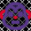 Monkey Death Eyes Icon