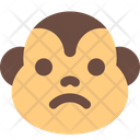 Monkey Frowning Icon