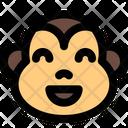 Monkey Grinning Smiling Eyes Icon