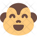 Monkey Grinning Smiling Eyes Icon
