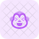 Monkey Grinning Squinting Icon