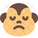 Monkey Sad Face Icon