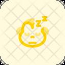 Monkey Sleeping Icon