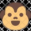 Monkey Smiling Icon