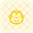 Monkey Smiling Closed Eyes Icon
