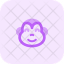 Monkey Smiling Eyes Icon