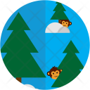 Monkeys Jungle Animal Icon