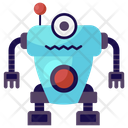 Mono Eyed Machine Single Eyed Robot One Eyed Robot Icon