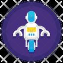 Mono Wheel Robot Icon