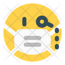 Monocle Emoji With Face Mask Emoji Icon