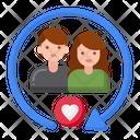 Monogamous Relationship Icon