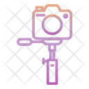 Outline Gradient Photography Icon