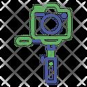 Photograph Monopod Button Icon