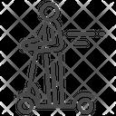 Monowheel Scooter Segway Icon