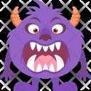 Cartoon Ugly Spooky Icon