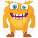 Yellow Horrifying Cartoon Icon