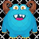 Horned Blue Horrifying Icon