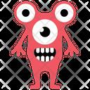 Eyed Alien Halloween Monster Zombie Monster Icon