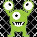 Eyed Alien Three Eyed Eyed Monster Icon