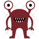 Cartoon Monster Monster Drawing Halloween Monstrous Icon