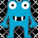 Cartoon Monster Frog Alien Halloween Monster Icon