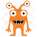 Cartoon Monster Monster Drawing Four Eyed Alien Icon