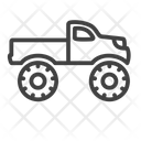 Monster Truck Automovile Icon