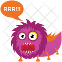 Monster Screaming Icon