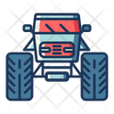 Monster Truck Quad Truck Utility Truck Icon