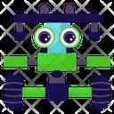 Monster Truck Robot Robot Vehicle Mechanical Robot Icon