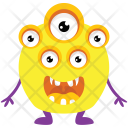 Monster With Multiple Eyes Icon