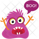 Yelling Halloween Ghost Icon